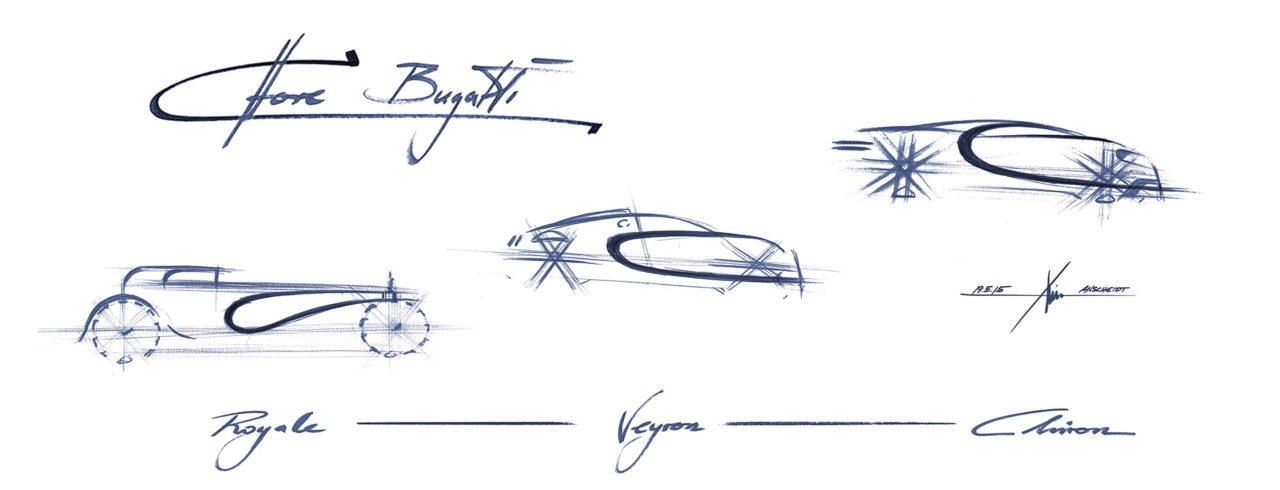 تطور الخط الجانبي في سيارات بيوغاتي