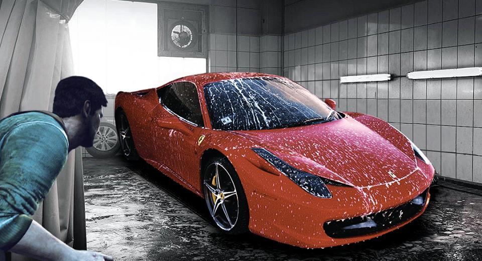 Photo of ضبط مراهق يتلصص على سيارة فيراري في المغسلة وهي تستحم