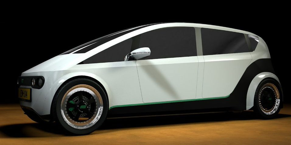 """صورة استعمل """"لينا"""" واتركها لتتحلل، سيارة جديدة صديقة للبيئة"""