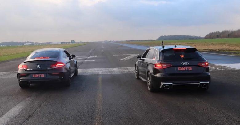 Photo of هل أودي RS3 أسرع فعلًا من مرسيدس AMG C63؟