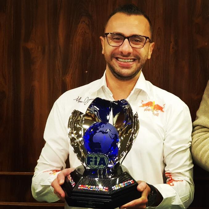 خلال تتويج البطل الأردني موسى جيهريان بكأس بطولة الشرق الأوسط