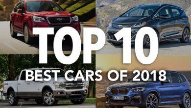 """Photo of قائمة """"المستهلك"""" لأفضل 10 سيارات لعام 2018"""