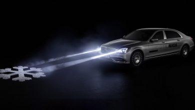 Photo of فيديو: مرسيدس تتحدث للمشاة من خلال المصابيح الأمامية لسياراتها!