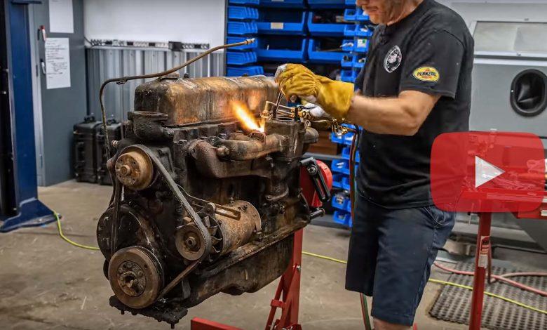 Photo of 10 دقائق مُثيرة لتجديد محرك شيفروليه من الستينيات