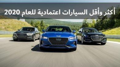 Photo of أكثر وأقل السيارات اعتمادية للعام 2020