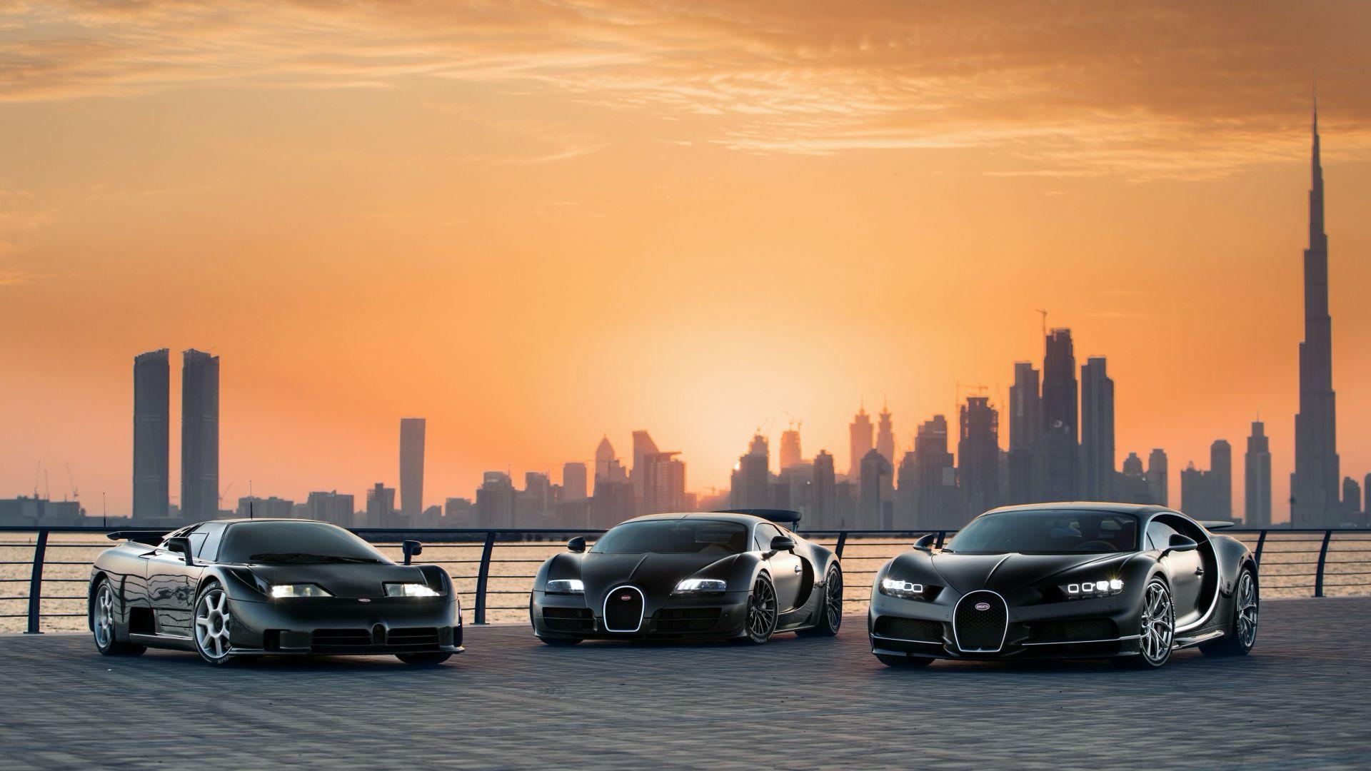 "Photo of سيارات بيوغاتي تجتمع في دبي لالتقاط صور ""عائلية"""